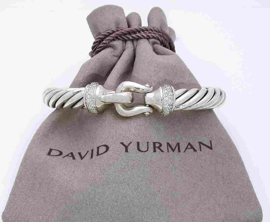 David Yurman Diamond Buckle Cable Bracelet