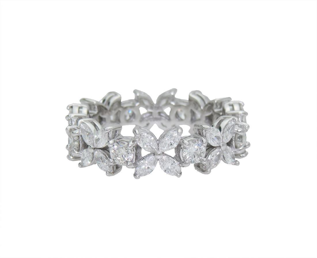 Tiffany & Co Victoria Platinum Alternating Diamond Band