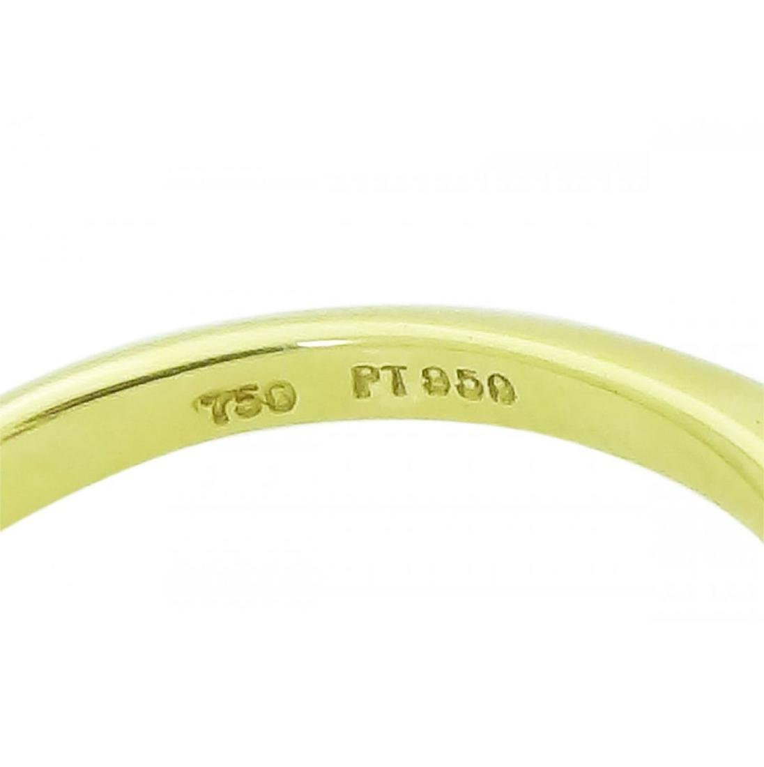 Tiffany & Co 18K Gold PT Pink Sapphire Diamond Ring - 3