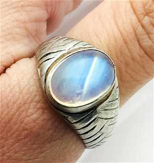 d7090445b Tiffany & Co Vintage Platinum & Labradorite Ring Size