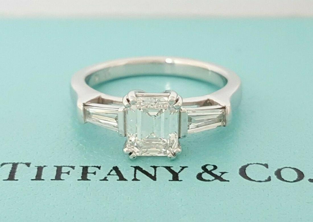 f678de6bd25f2 Tiffany & Co Emerald Diamond 3 Stone Engagement Ring - May 16, 2019 ...