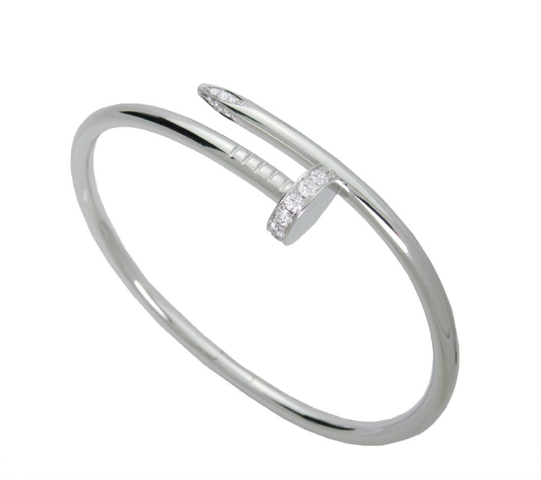 Cartier juste un clou diamonds bracelet in  white  gold