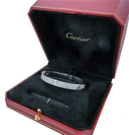 Cartier LOVE 3.16CT DIAMOND-PAVED WHITE GOLD BRACELET