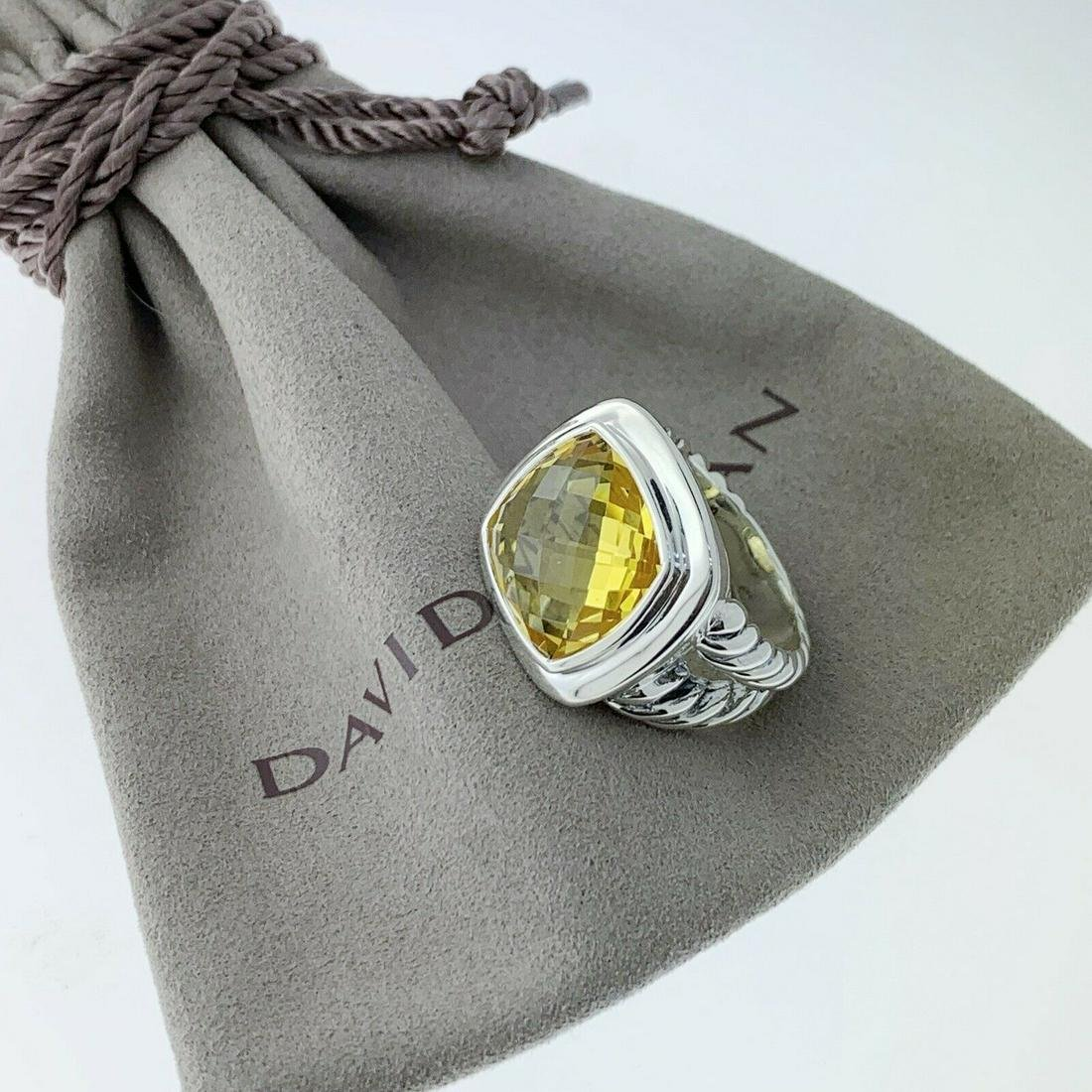 David Yurman Lemon Citrine Diamond Nobless Ring