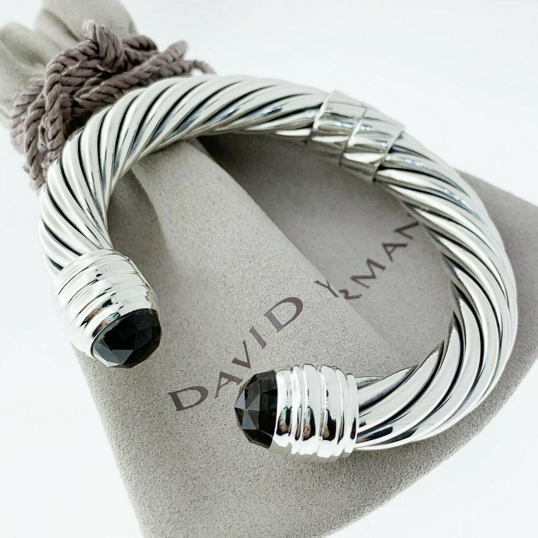 David Yurman Smoky and Diamond 10mm Cable Bracelet