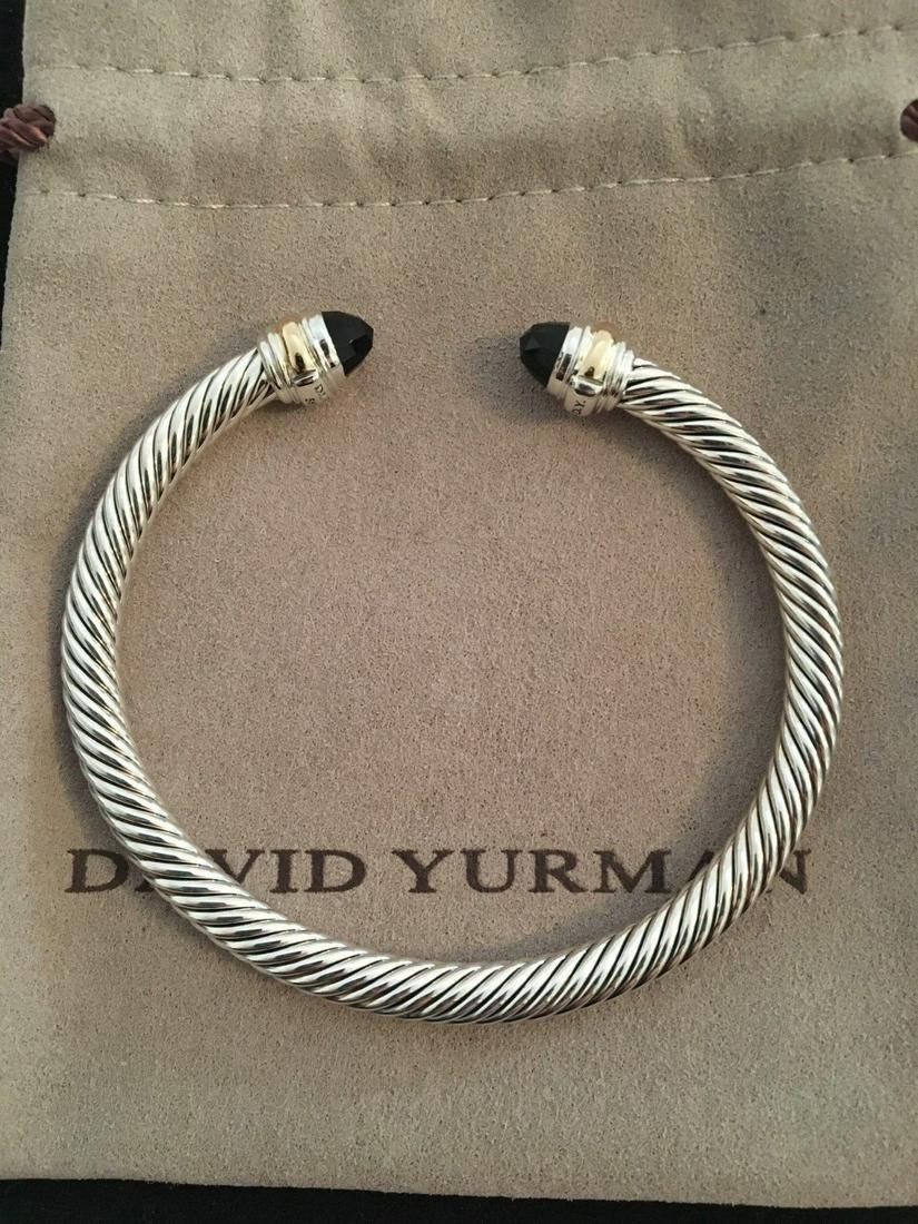 David Yurman 14k Gold Black Onyx 5mm Bracelet