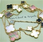 Van Cleef & Arpels 18K Magic Alhambra 16motif Necklace
