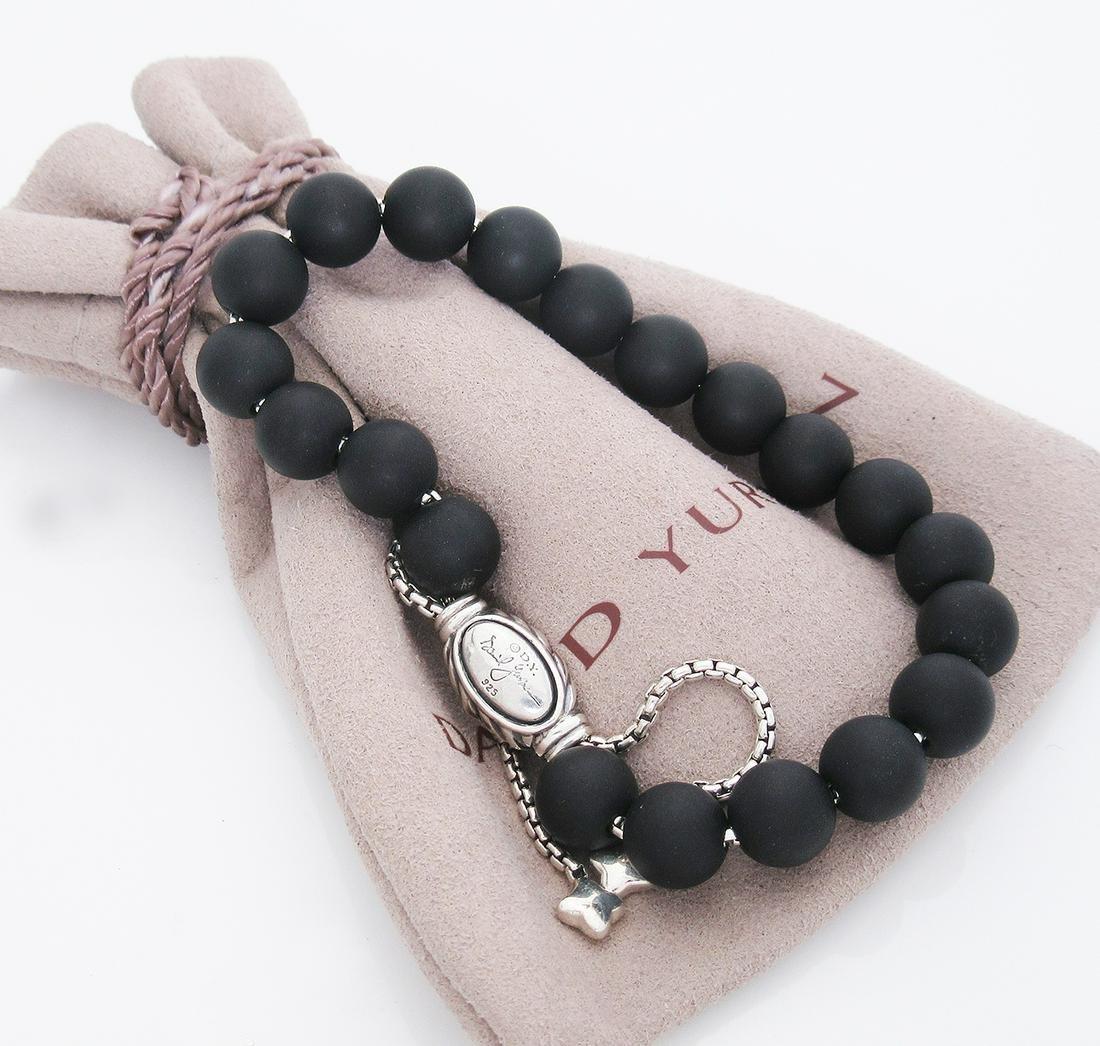 David Yurman Silver Blk Onyx Spiritual 8mm Bead
