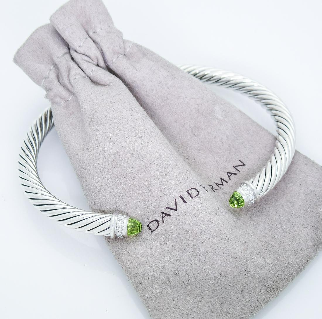David Yurman 5mm. Classic Cable Diamond Bracelet with