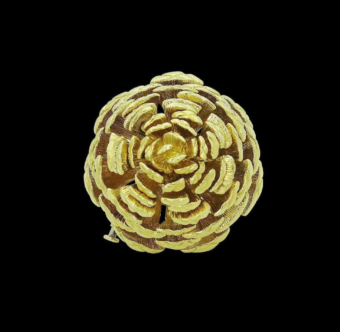 Tiffany & Co. 18k Yellow Gold Pine Cone Pin Brooch