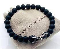 DAVID YURMAN BLACK ONYX STERLING SILVER SPIRITUAL BEAD