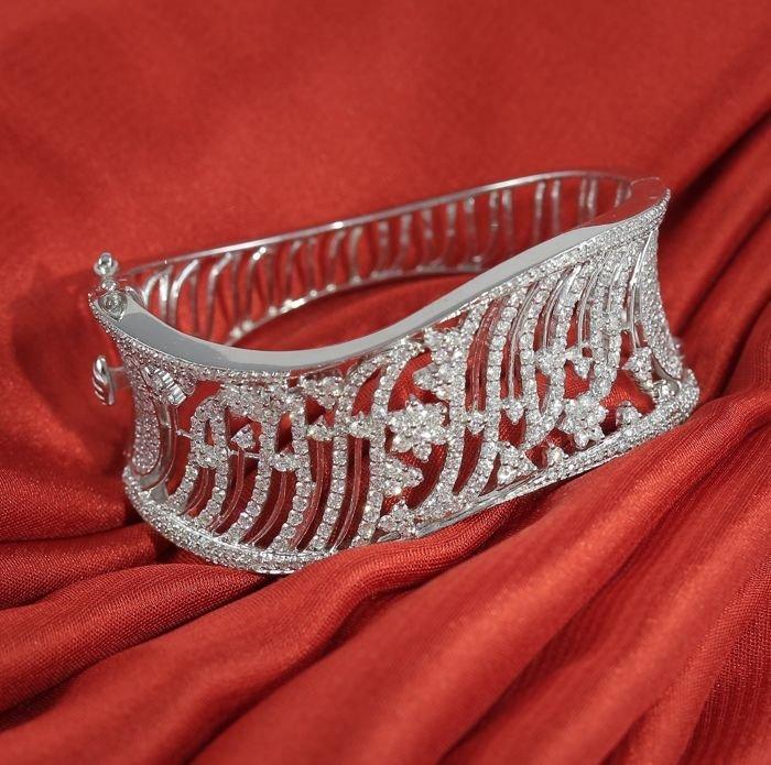IGI Certified 14 K white gold Designer Diamond Bracelet