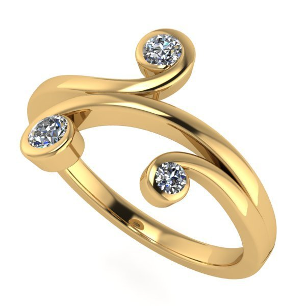 14 K Yellow Gold Diamond Ring