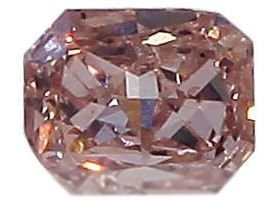 GIA Certified 0.08 ct. Fancy Orangy Pink Diamond