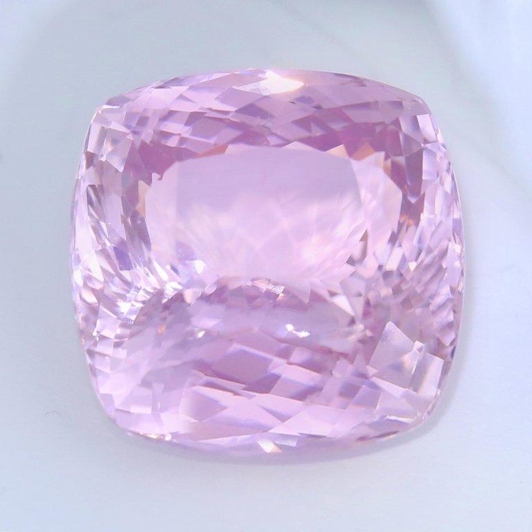 IGI Certified 86.37 ct. - Large Kunzite - Purplish Pink