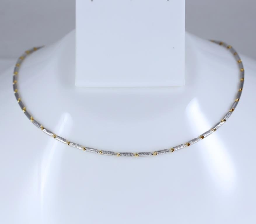 18 K / 750 - Yellow and White Gold Chain Necklace