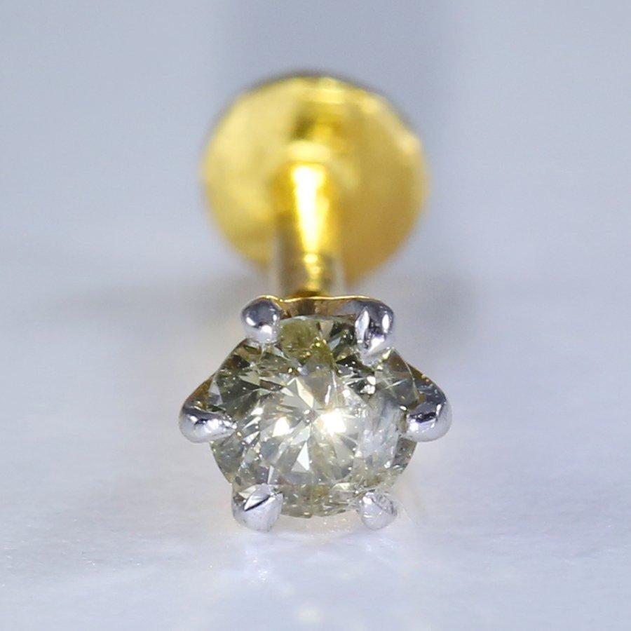 14 K Yellow Gold Diamond Ear Stud/Nose Pin