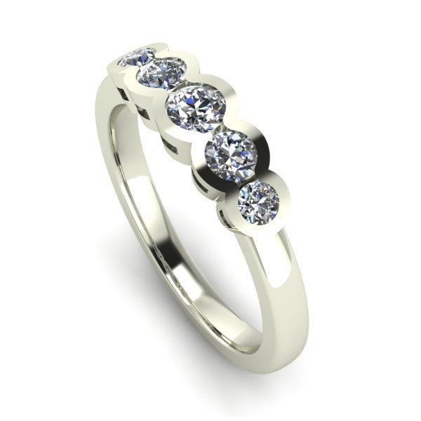 14 K White Gold Diamond Ring