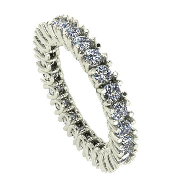 14 K White Gold Eternity Diamond Ring