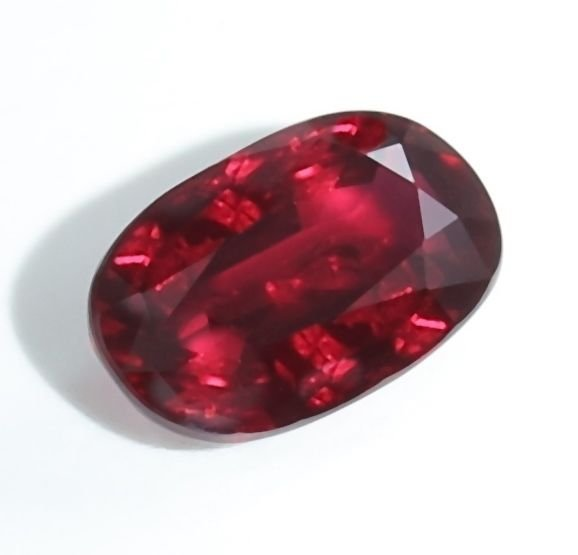 """GRS Certified 5.02 ct. -""""Pigeons Blood """" Certified Ruby"""