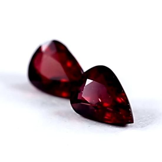 GRS Certified 3.18ct. Untreated Ruby Pair Pigeons Blood