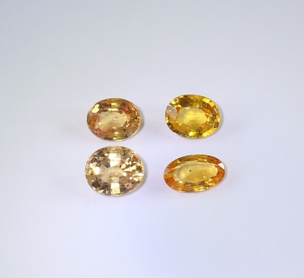 IGI Cert. Set of 4 Sapphires 1.32 ct. - MADAGASCAR