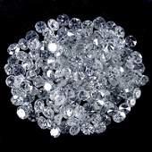 252 ct Round Brilliant Diamond Lot UNTREATED