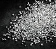1262 ct Round Brilliant White Diamond Lot UNTREATED
