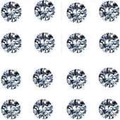 Set of 16 032 ct Round Brilliant Diamonds UNTREATED