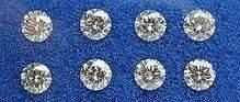 Set of 8 024ct Round Brilliant Diamonds UNTREATED