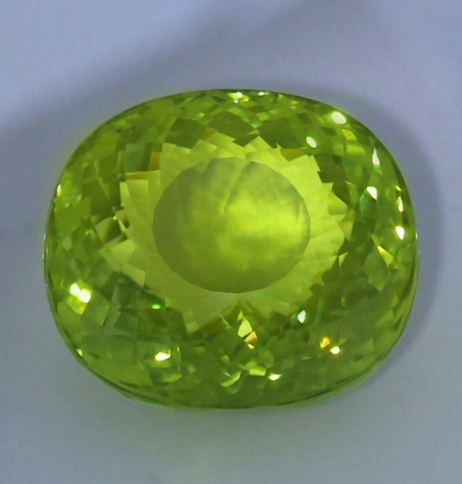 GIA Cert. 20.65 ct. Neon Yellowish Green Paraiba BRAZIL - 3