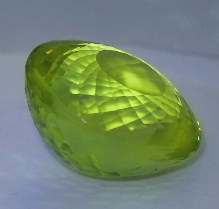 GIA Cert. 20.65 ct. Neon Yellowish Green Paraiba BRAZIL - 4