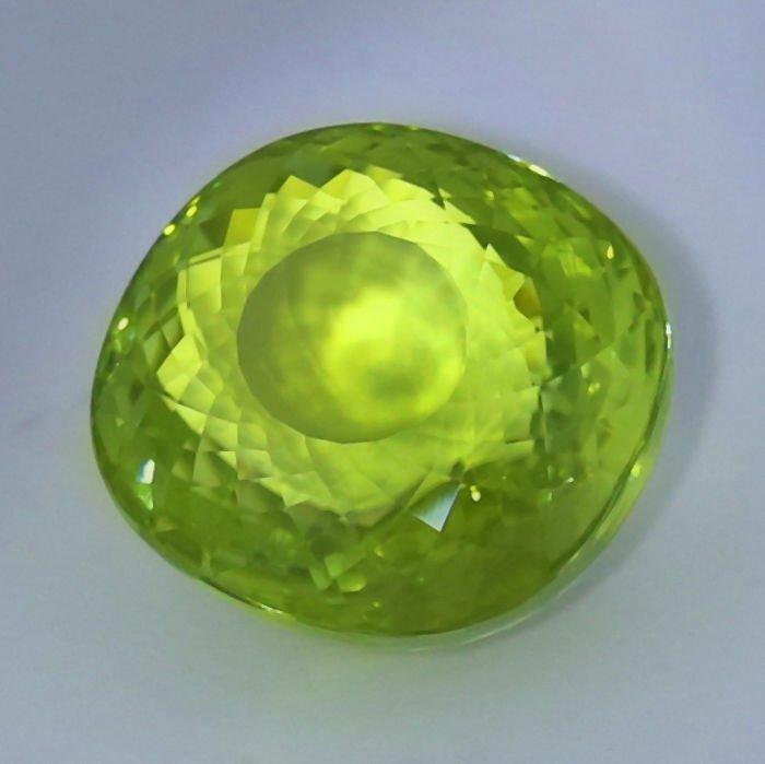 GIA Cert. 20.65 ct. Neon Yellowish Green Paraiba BRAZIL - 5