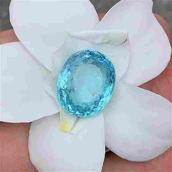 GIA Cert. 16.33 ct. RARE NEON BLUE Paraiba Tourmaline
