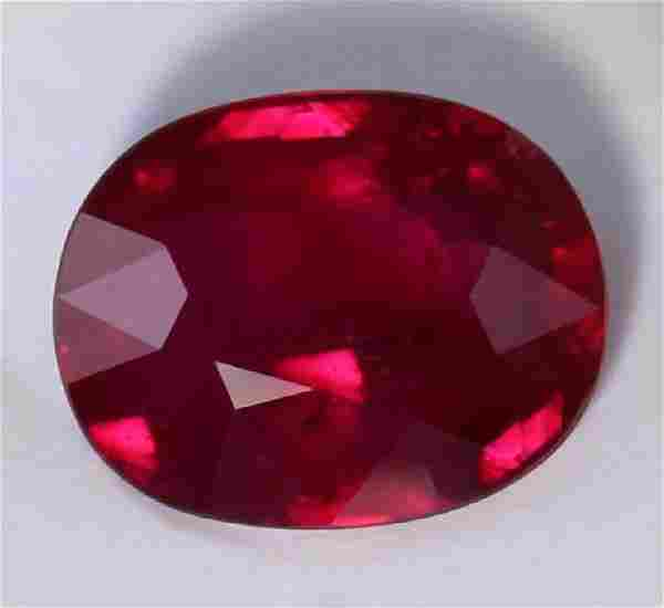 GRS Cert 201 ct Untreated VIVID RED Ruby MOZAMBIQUE