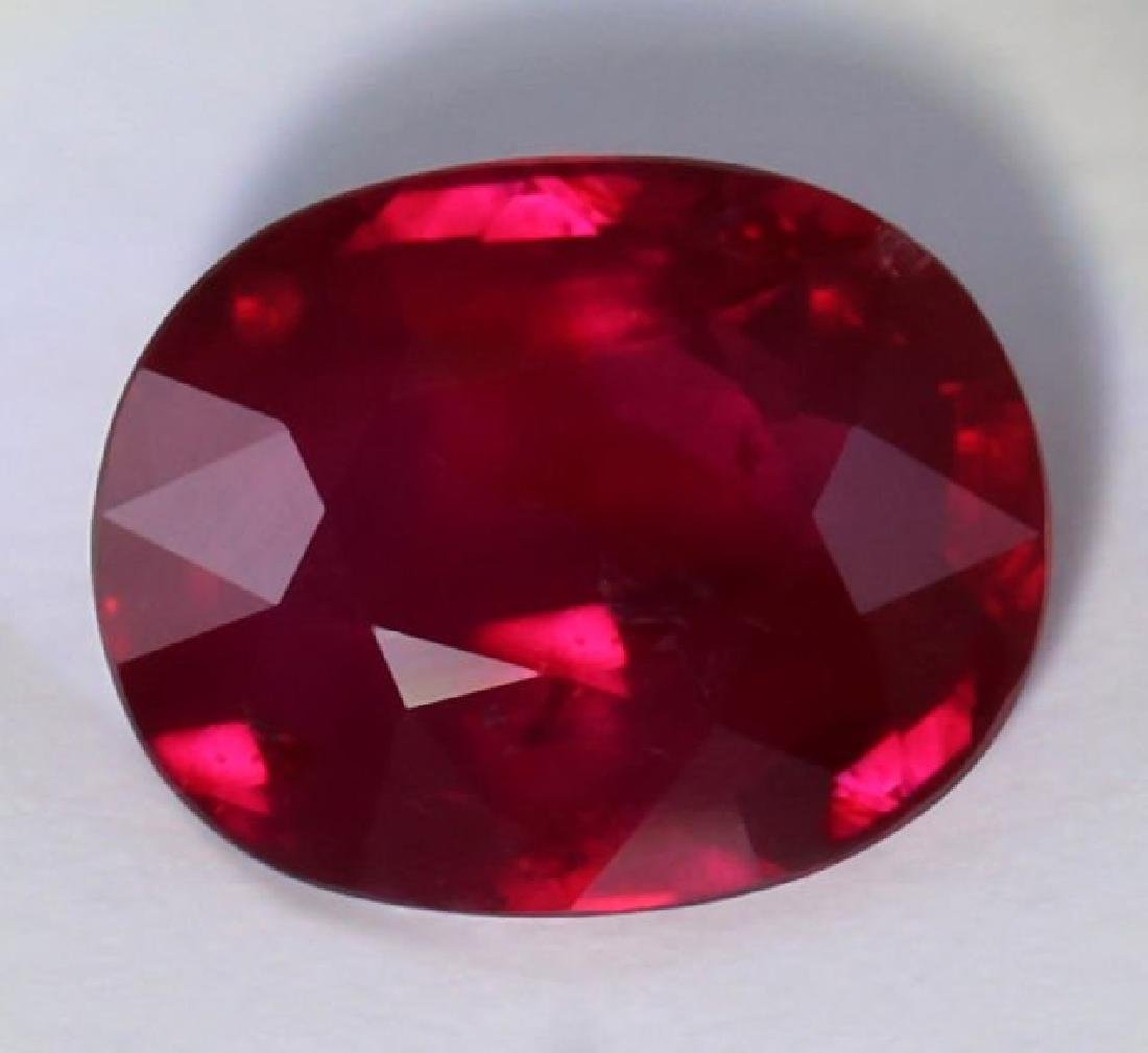 GRS Cert. 2.01 ct. Untreated VIVID RED Ruby MOZAMBIQUE