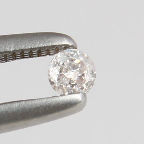 IGI Cert. 0.10 ct. Diamond - Faint Pink - I 2 UNTREATED