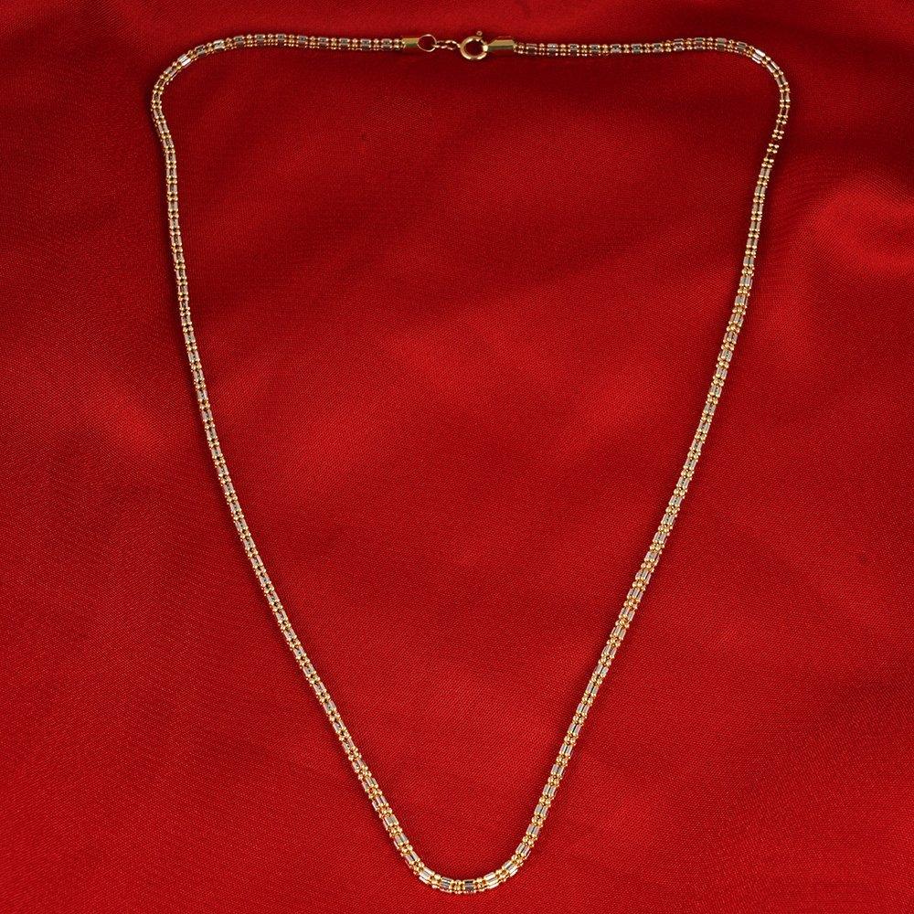 18 K/750 Hallmarked Yellow & White Gold Chain Necklace