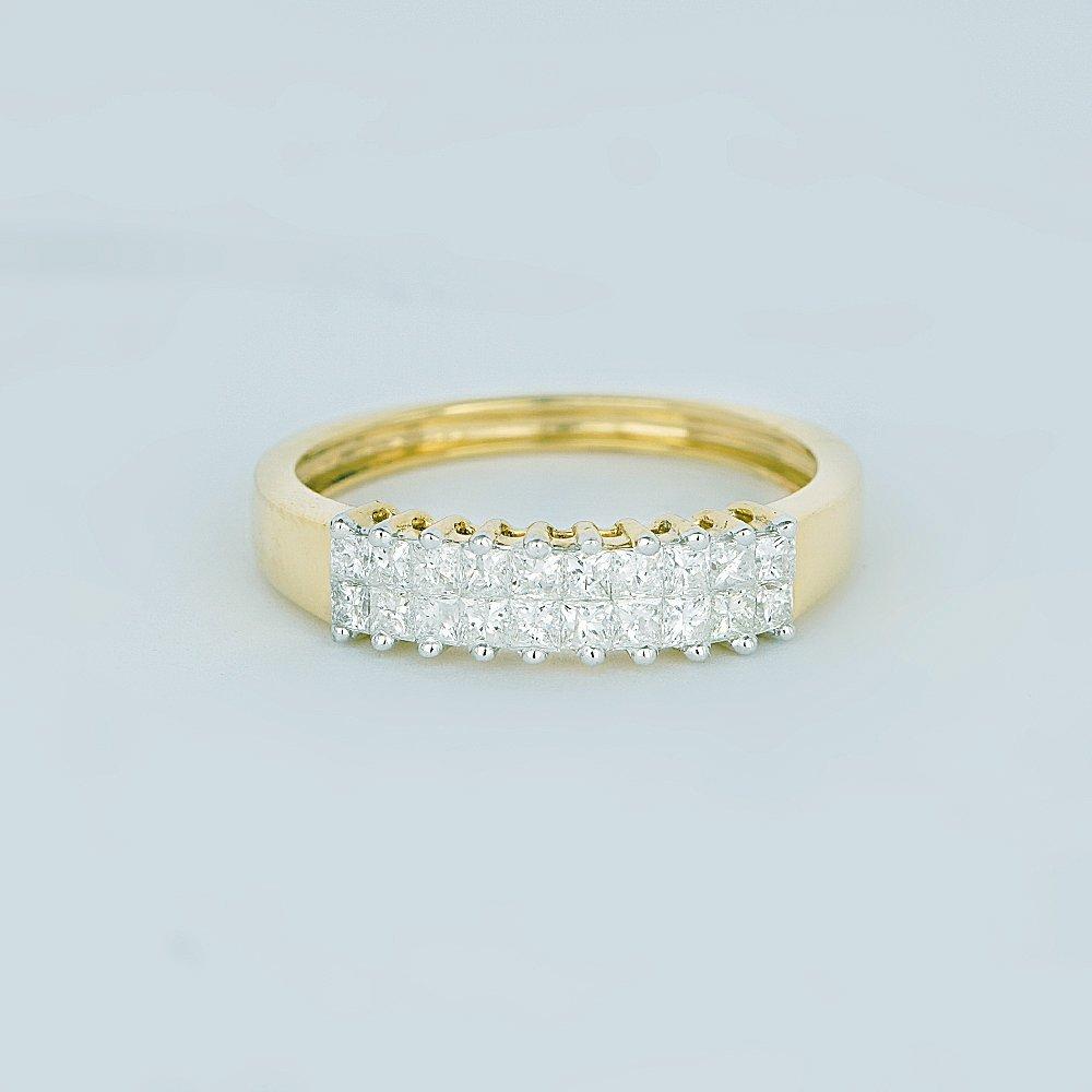 IGI Certified 14 K / 585 Yellow Gold Diamond Ring