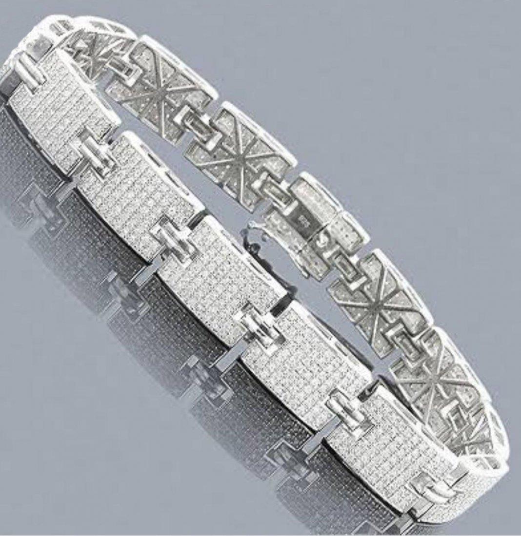 14 K / 585 White Gold Diamond Bracelet