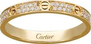 18K Yellow CARTIER Style Love Eternity Diamond Band