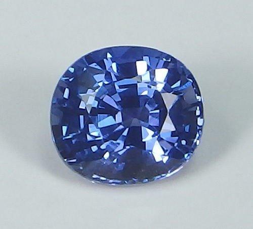 IGI Cert. 0.83ct. Untreated Royal Blue Sapphire KASHMIR