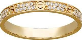 18K750 Yellow Gold CARTIER Style Eternity Diamond Band