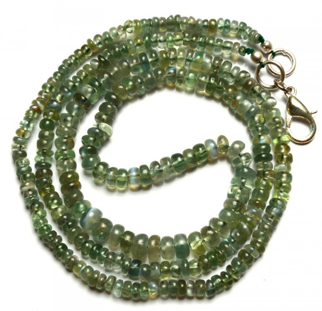 76 ct. Alexandrite & Cat's Eye Rondelle Beads Necklace