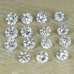 Set of 15 - 1.50 ct. Diamond Lot - H-I / SI-I UNTREATED