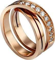18 K / 750 Rose Gold CARTIER Style Diamond Ring