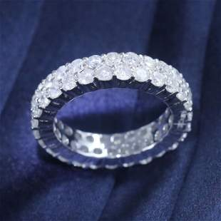 14 K / 585 White Gold Eternity Diamond Ring