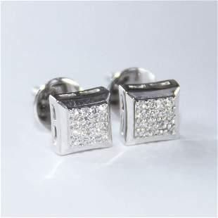 14 K / 575 White Gold Diamond Earring Studs
