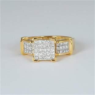 14 K / 585 Yellow Gold Diamond Ring