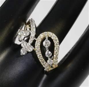 IGI Certified 18 K / 750 Yellow Gold Diamond Ring